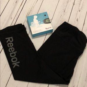 Reebok cropped workout pants &free fitness tracker
